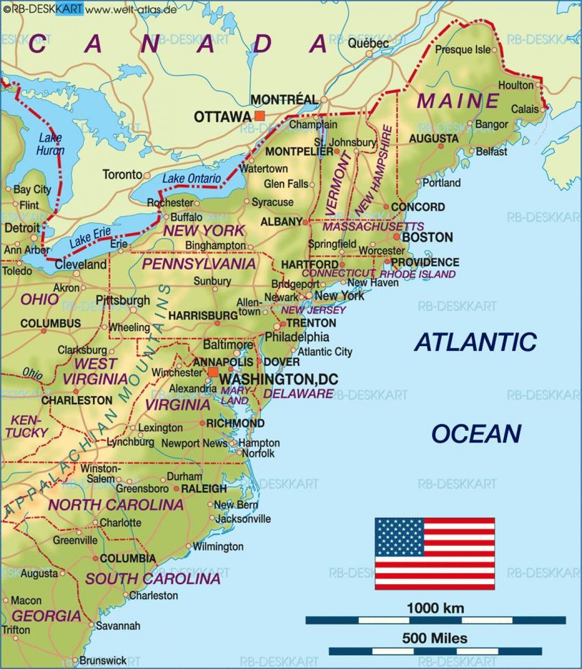 Boston Cartina Stati Uniti.Boston Usa Mappa Boston Su Una Mappa Degli Stati Uniti Stati Uniti D America